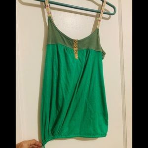 Green Free People Tank Top